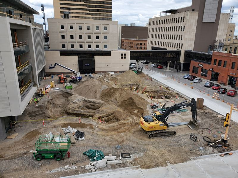 Construction Begins for Block 9 Plaza
