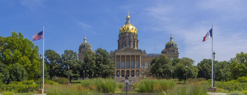 Iowa State Capitol: West Terrace