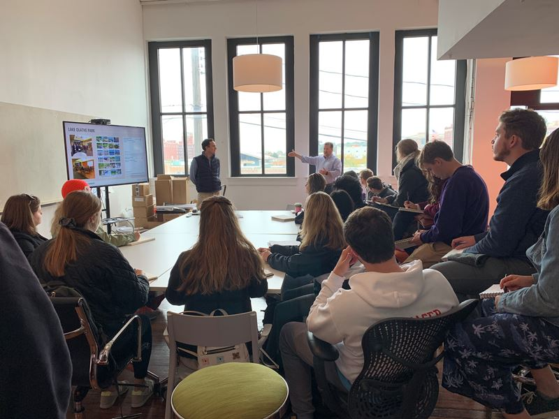 K-State Students Visit Confluence